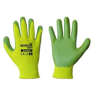 Ochranné rukavice Dámske nitrox mint veľkosť 8