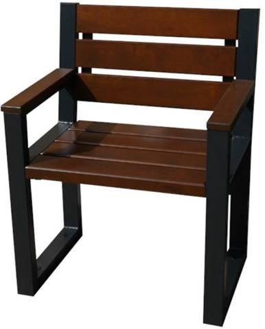 Moderná stolička s operadlom orech