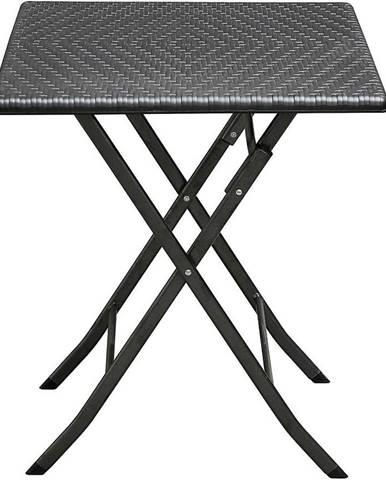 Štvorcový skladaci stolik čierný 62cm