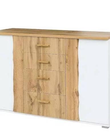 Komoda Wood 03 130 biela/wotan