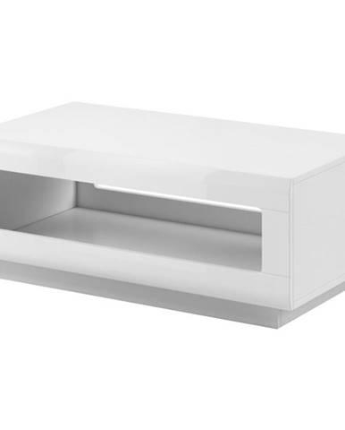 Konferenčný stolík Tulsa 99 biela lesklá