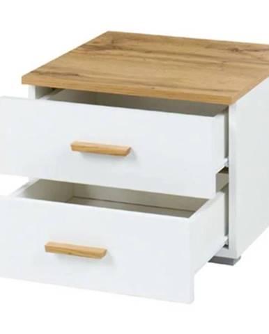 Nočný stolík wood 23 x 2 biela/wotan