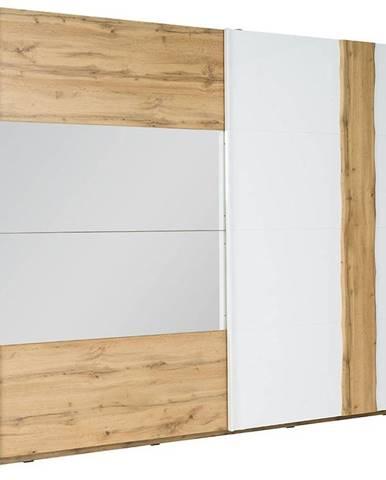 Skriňa Wood 11 200 cm biela/wotan