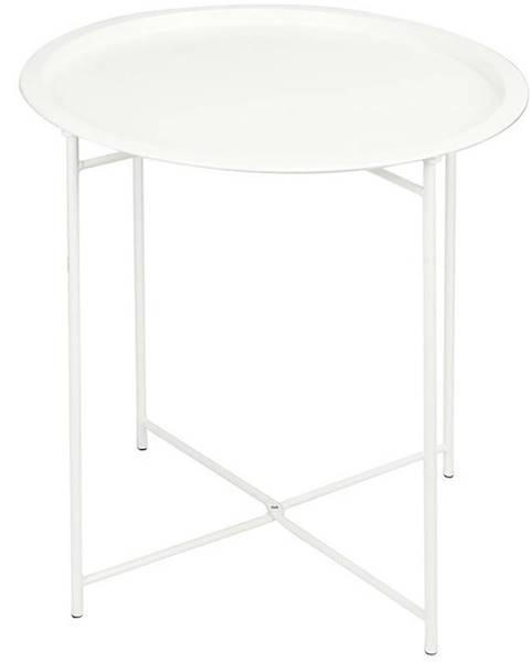 MERKURY MARKET Malý skladací stolík 52x46cm biely