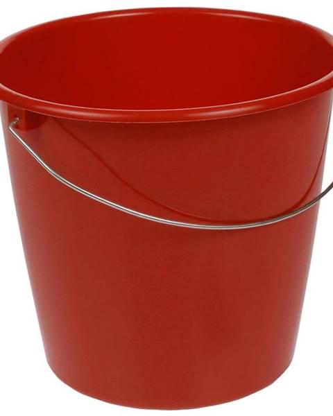 MERKURY MARKET Vedro s kovovým úchytom 10l červené