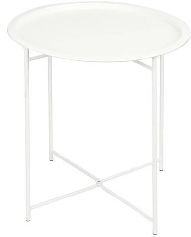 Malý skladací stolík 52x46cm biely