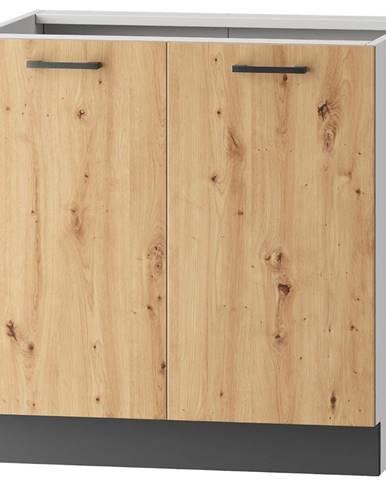 Skrinka do kuchyne Clara D80 sivý grafit/artisan