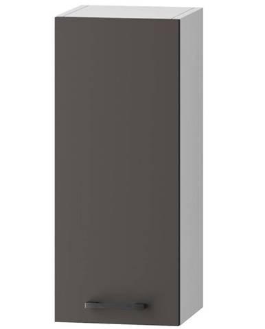 Skrinka do kuchyne Clara W30 P/L sivý grafit/artisan