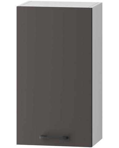 Skrinka do kuchyne Clara W40 P/L sivý grafit/artisan