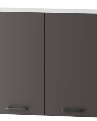 Skrinka do kuchyne Clara W80 sivý grafit/artisan