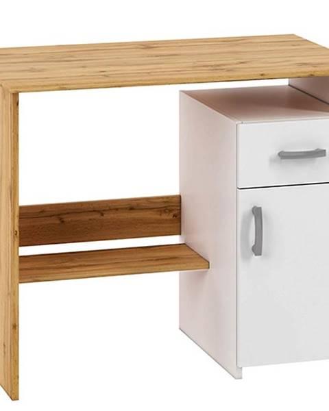 MERKURY MARKET Písací stôl Miu01 votan biela