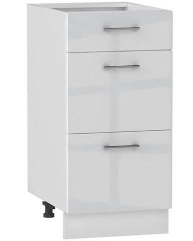Skrinka do kuchyne Alvico D40 S/3 luxe blanco BB