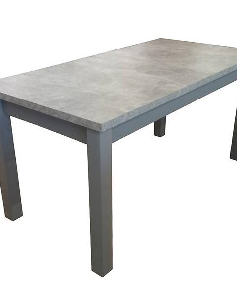 MERKURY MARKET Jedálenský stôl ST28 120x80+40 beton DD