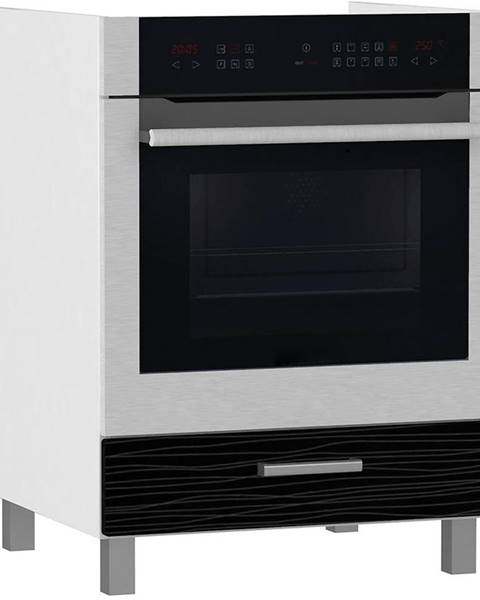 MERKURY MARKET Skrinka do kuchyne Megan Black Hologram Line DK 60 BB