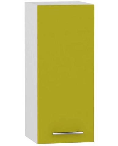 Skrinka do kuchyne Hana zelený lesk/biela W30 P/L