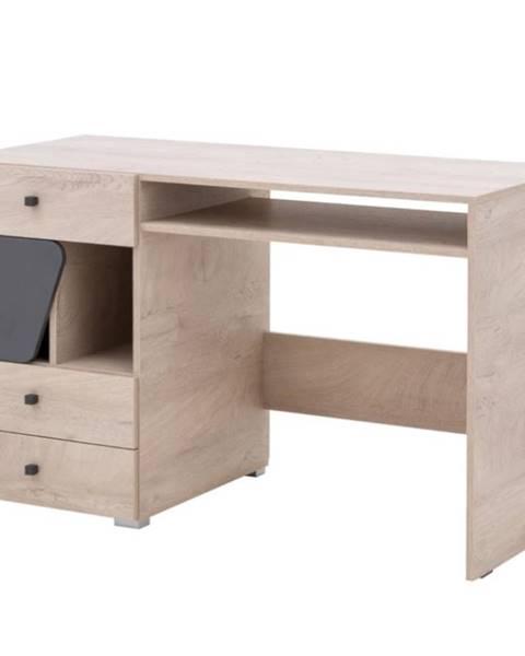 MERKURY MARKET Písací stôl Delta 125 DL9 dub/antracit