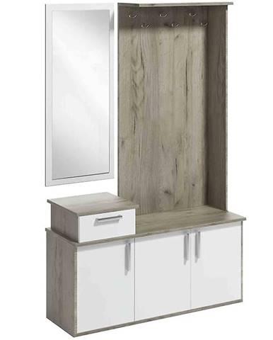 Predsieňový nábytok Gerber country grey/biela