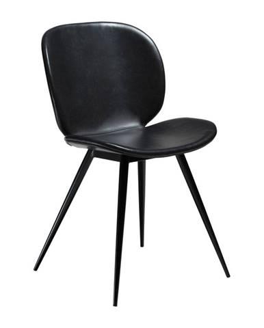 Čierna koženková stolička DAN-FORM Denmark Cloud