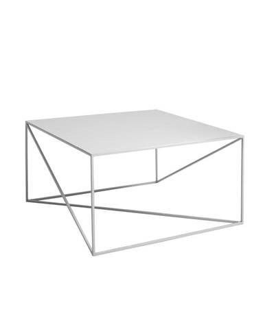 Sivý konferenčný stolík Custom Form Memo, 80 x 80cm