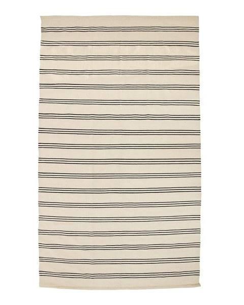 Bloomingville Béžový bavlnený koberec Bloomingville Stripe, 140 x 240 cm