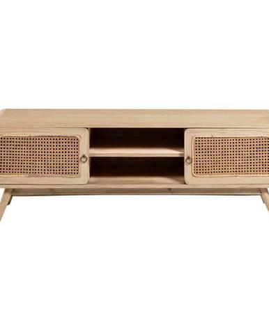 Svetlohnedý TV stolík La Forma Nalu, 150 x 50 cm
