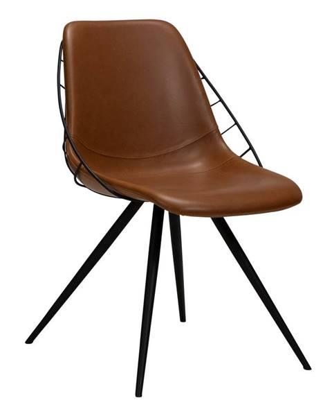 DAN-FORM Denmark Hnedá jedálenská stolička v imitácii kože DAN-FORM Denmark Sway