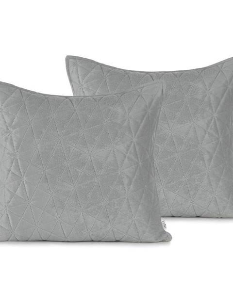 AmeliaHome Súprava 2 sivých obliečok na vankúš AmeliaHome Laila, 45 × 45 cm
