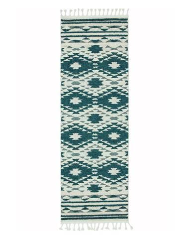 Zelený koberec Asiatic Carpets Taza, 80 x 240 cm
