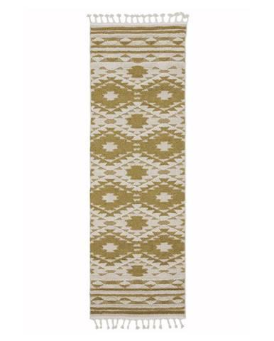 Žltý koberec Asiatic Carpets Taza, 80 x 240 cm