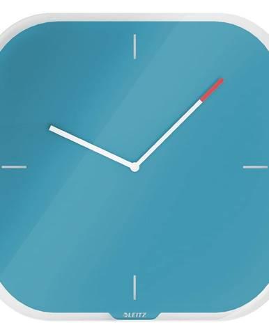 Modré nástenné popisovacie hodiny Leitz Cosy
