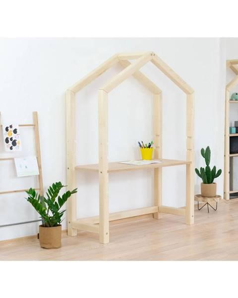 Benlemi Prírodný drevený domčekový stôl Benlemi Stolly s béžovou doskou, 97 x 133 cm