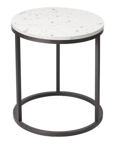 Konferenčný stolík s kamennou doskou RGE Bianco, ø 50 cm