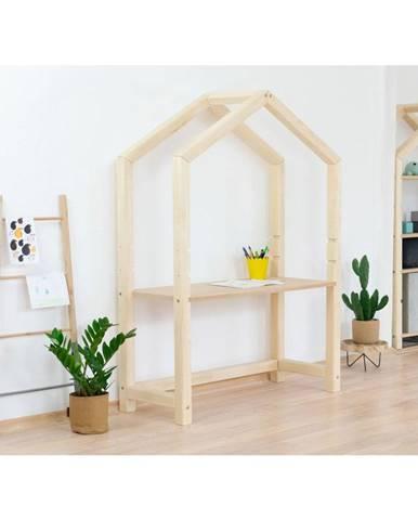 Prírodný drevený domčekový stôl Benlemi Stolly s béžovou doskou, 97 x 133 cm