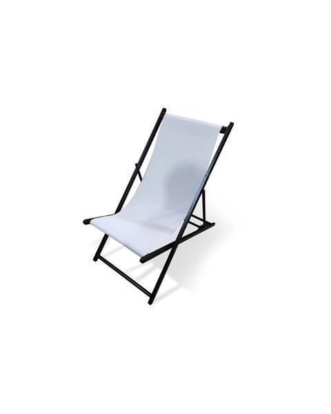 Le Bonom Biele skladacie záhradné ležadlo Le Bonom Deck, dĺžka 106 cm