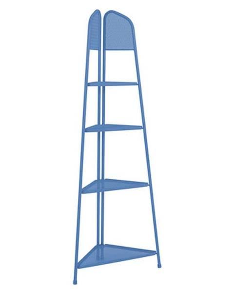 ADDU Modrá kovová rohová polica na balkón ADDU MWH, výška 180 cm