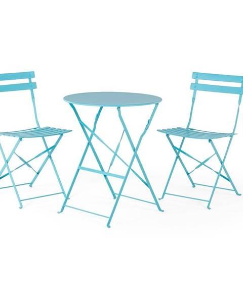 Le Bonom Set modrého záhradného nábytku Le Bonom Retro