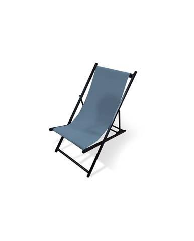 Sivé skladacie záhradné ležadlo Le Bonom Deck, dĺžka 106 cm