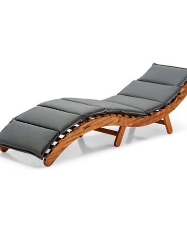 Sivé závesné ležadlo z akáciového dreva Le Bonom Sunlounger