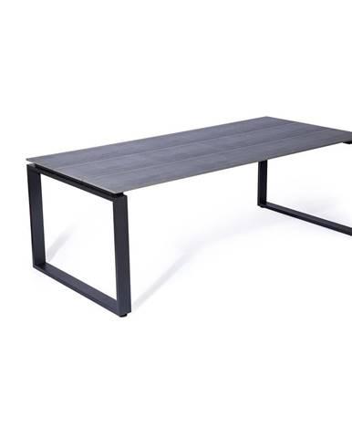 Sivý záhradný stôl Le Bonom Strong, 100 x 210 cm