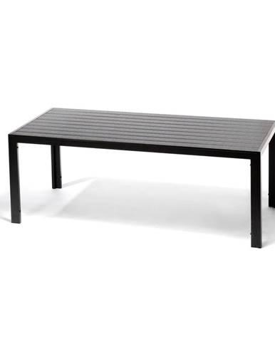 Sivý záhradný stôl s artwood doskou Le Bonom Víking, 90 x 205 cm