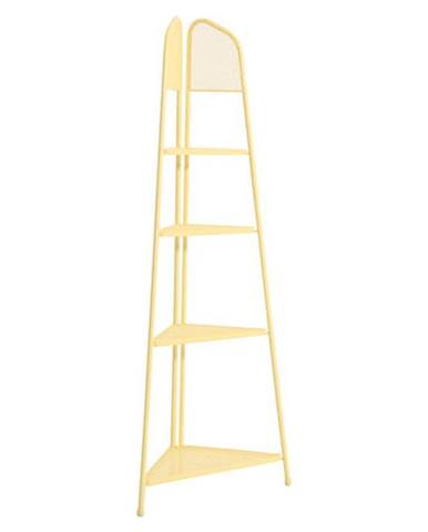 Žltá kovová rohová polica na balkón ADDU MWH, výška 180 cm