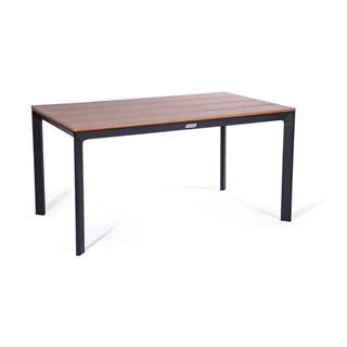 Sivý záhradný stôl s keramickou doskou Le Bonom Thor, 90 x 147 cm