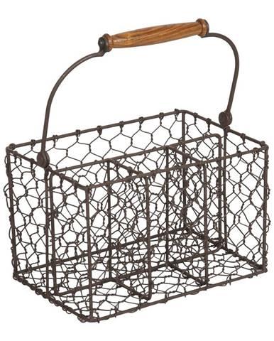 Kovový košík na príbory Antic Line Holdes