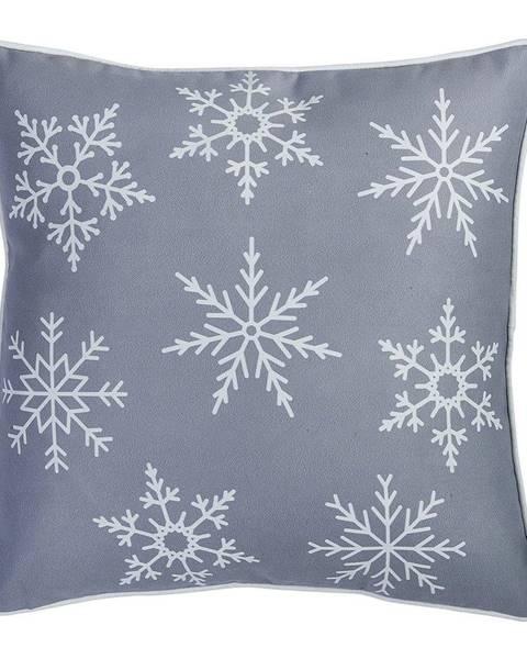 Apolena Sivá obliečka na vankúš s vianočným motívom Mike&Co.NEWYORK Honey Snowflake, 45 × 45 cm