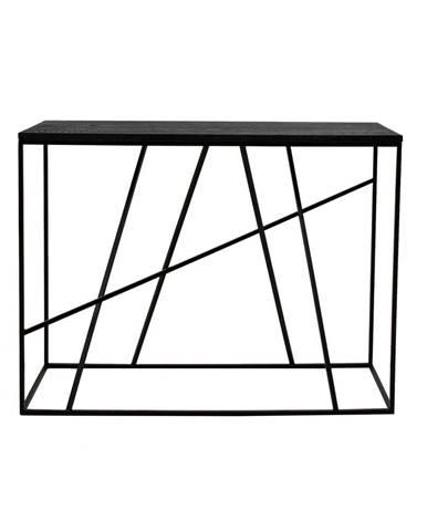 Čierny konzolový stolík Canett Coster