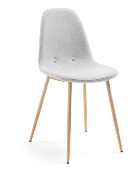 La Forma Svetlosivá jedálenská stolička La Forma Lissy