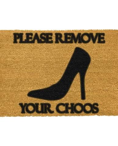 Rohožka z prírodného kokosového vlákna Artsy Doormats Remove Shoes, 40 x 60 cm