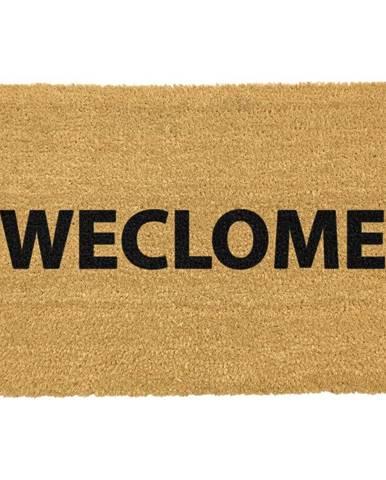 Rohožka z prírodného kokosového vlákna Artsy Doormats Weclome Funny, 40 x 60 cm