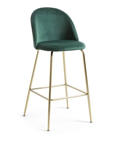 Zelená barová stolička La Forma Mystere, výška 108 cm