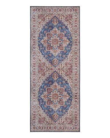 Modro-červený koberec Nouristan Anthea, 80 x 200 cm